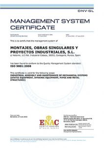 MOS Industrial - ISO 9001