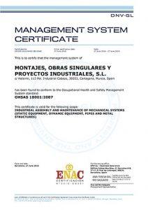 MOS Industrial - OHSAS 18001